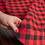 Red and Black Buffalo Check Tree Skirt for Displaying and Decorating