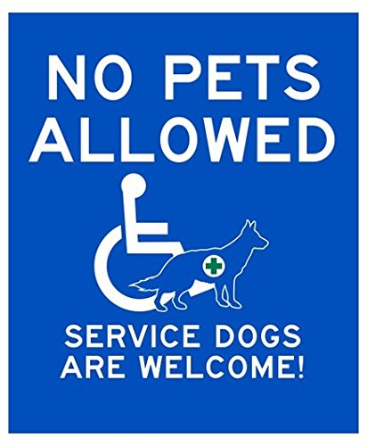 NO PETS ALLOWED Service Dogs Welcome Sticker - business restaurant cafe- Sticker Graphic ()