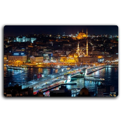 - city-istanbul-turkey-night-bosphorus-galata-tower-mosque-river Furniture & Decorations magnet fridge magnets
