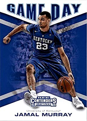 Jamal Murray basketball card (Kentucky Wildcats) 2016 Panini Game Day Draft Picks Rookie #3