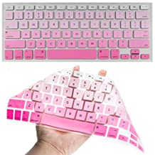 Mbangde Silicone Keyboard Cover Skin for MacBook Pro 13 inch 15 inch 17 inch (with Or Without Retina Display)/MacBook Air 13 inch Ombre Pink
