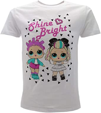 LOL Surprise! Camiseta oficial para niña con purpurina DJ fucsia o blanca L.O.L.: Amazon.es: Ropa y accesorios