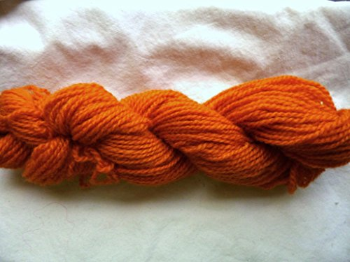 Kettle Dyed 100% Wool Rust Orange Colorway Sports Weight Yarn (Yarn Bliss Pure Debbie Cotton)