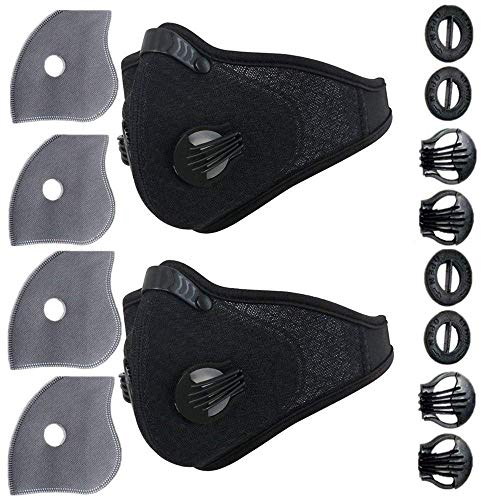 Ligart Activated Carbon mask filter for Dust Mask Dustproof Mask Filtration Exhaust Gas Anti Pollen Allergy PM2.5 Air Filter Mask for Running Cycling and Other Outdoor Activities