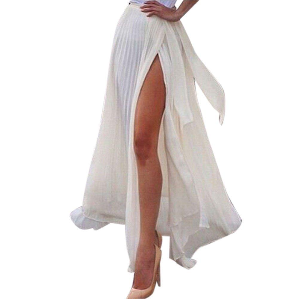 Falda larga blanca