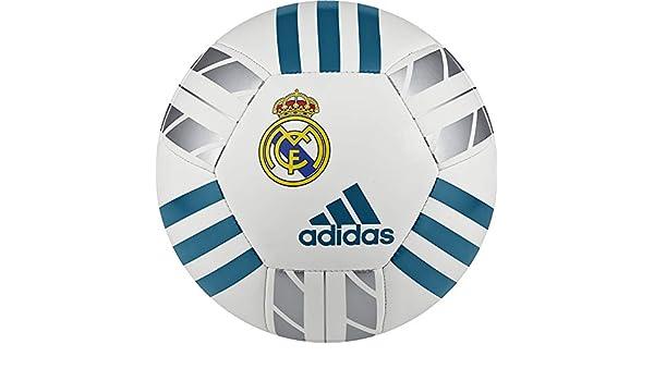 adidas Mini Balón, Hombre, Blanco/Azuint/Plamet, 1: Amazon.es ...