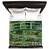 CafePress - Monetjapanesebridge1sc - King Duvet Cover, Printed Comforter Cover, Unique Bedding, Microfiber