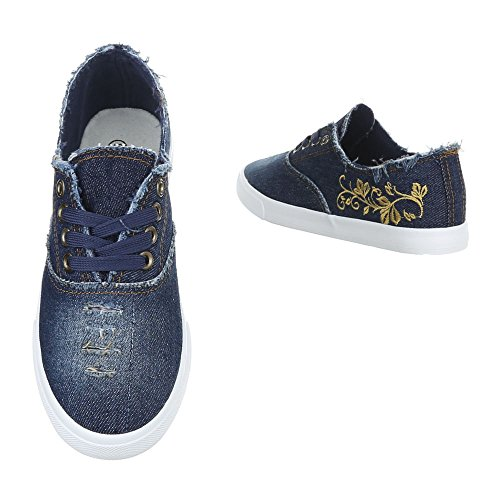 Mujer Zapatillas de Design azul oscuro Ital casa wOqURnnZ