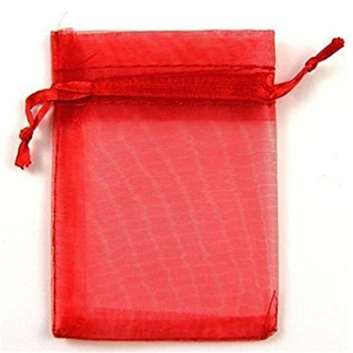 Hilai 100 bolsas de regalo de organza de 7 x 9 cm, color ...