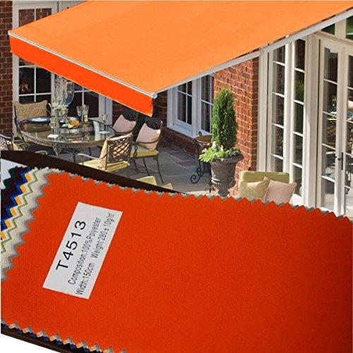オーニングテント 3m ×2m オレンジ 伸縮 手動 防水 日除け サンシェード 白フレーム 折りたたみ □_71029 B01AOSWRDU