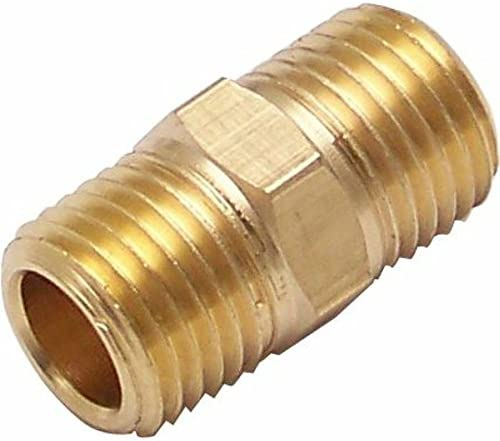 Helix 11999 1//4 NPT Male to 1//4 NPT Male Nipple Air Fitting