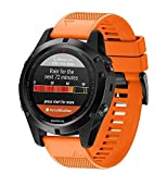 Garmin Fenix 5X GPS Watch Band - Quick Release Fit Replacement Band Strap Fitness Wristband for Garmin Fenix 5X/Fenix 3/Fenix 3 HR (Orange)