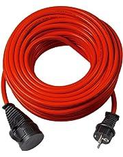Brennenstuhl Bremaxx Verlengkabel, 50 M Kabel, Voor Kortstondig Gebruik Buitenshuis IP44, Inzetbaar Tot -35 °C, Olie- En Uv-Bestendig, Rood