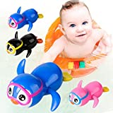 timeracing Cute Little Penguin Wind Up Newborn Baby Toddler Kids Swimming Bath Toy - Random Color