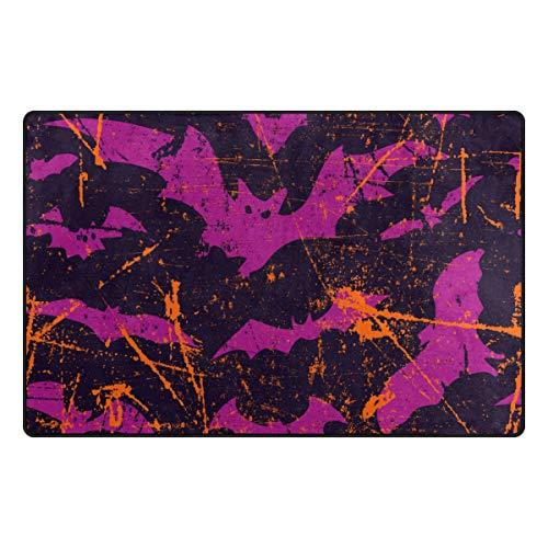 MOBEITI Non-Slip Area Rugs Bats Seamless Pattern Background Halloween Vector Floor Mat Living Room Bedroom Dinning Kitchen Carpets Doormats]()