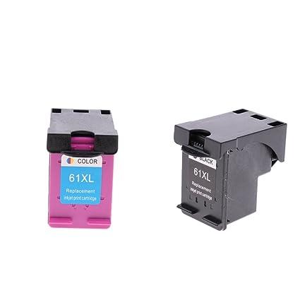 SM SunniMix 2 Unidads Cartuchos de Tinta 61XL para HP Deskjet 1050 ...