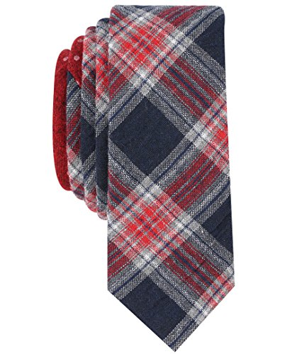 Original Penguin Men's Master Plaid Tie Accessory, -dark navy, One (Polyester Plaid Tie)
