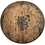 WhiskeyMade Authentic Stamped, Distiller Reclaimed Bourbon Whiskey Barrel - Comes Ready to Hang with Barrel Head, Backing Boa