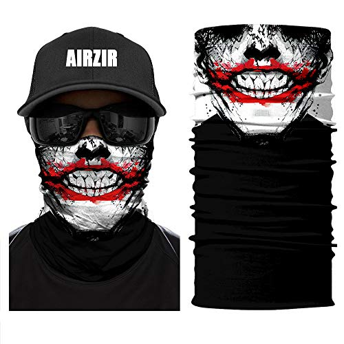 Airzir Outdoor Face Mask, Breathable Seamless Tube Dust-proof Windproof UV Protection Motorcycle Bicycle ATV Face Mask for Motorcycling Cycling Hiking Camping Climbing Fishing Hunting(Face-512)]()