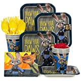 Zootopia Birthday Party Standard Tableware Kit (Serves 8) free gift with purchase