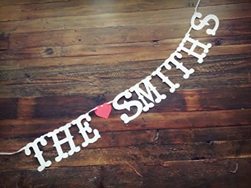 (Dorigan home series Personalized Custom Name Banner Valentines Day Wedding Save The Date Photo Prop)
