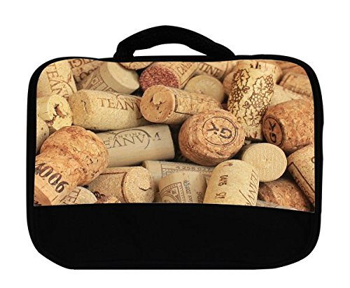 - Wine and Champagne Corks Pattern Background Canvas Lunch Bag by Moonlight Printing