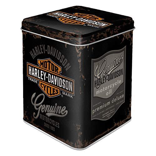 Nostalgic-Art Retro Teedose Harley-Davidson, Contenitore Sfuso e bustine di tè, Design Vintage, 100 g