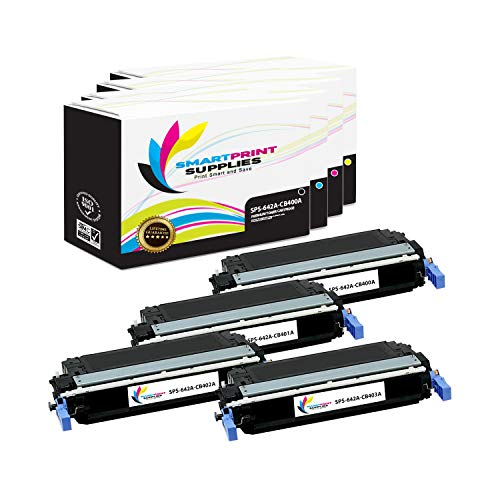 Smart Print Supplies Compatible 642A Toner Cartridge Replacement for HP Color Laserjet CP4005 Printers (CB400A Black, CB401A Cyan, CB403A Magenta, CB402A Yellow) - 4 Pack ()