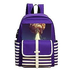 Mini School Daypack For Kindergarten Boys Girls,Print Atomic Bomb,Purple