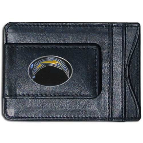 San Diego Chargers Fine Leather Money Clip - Black by ()