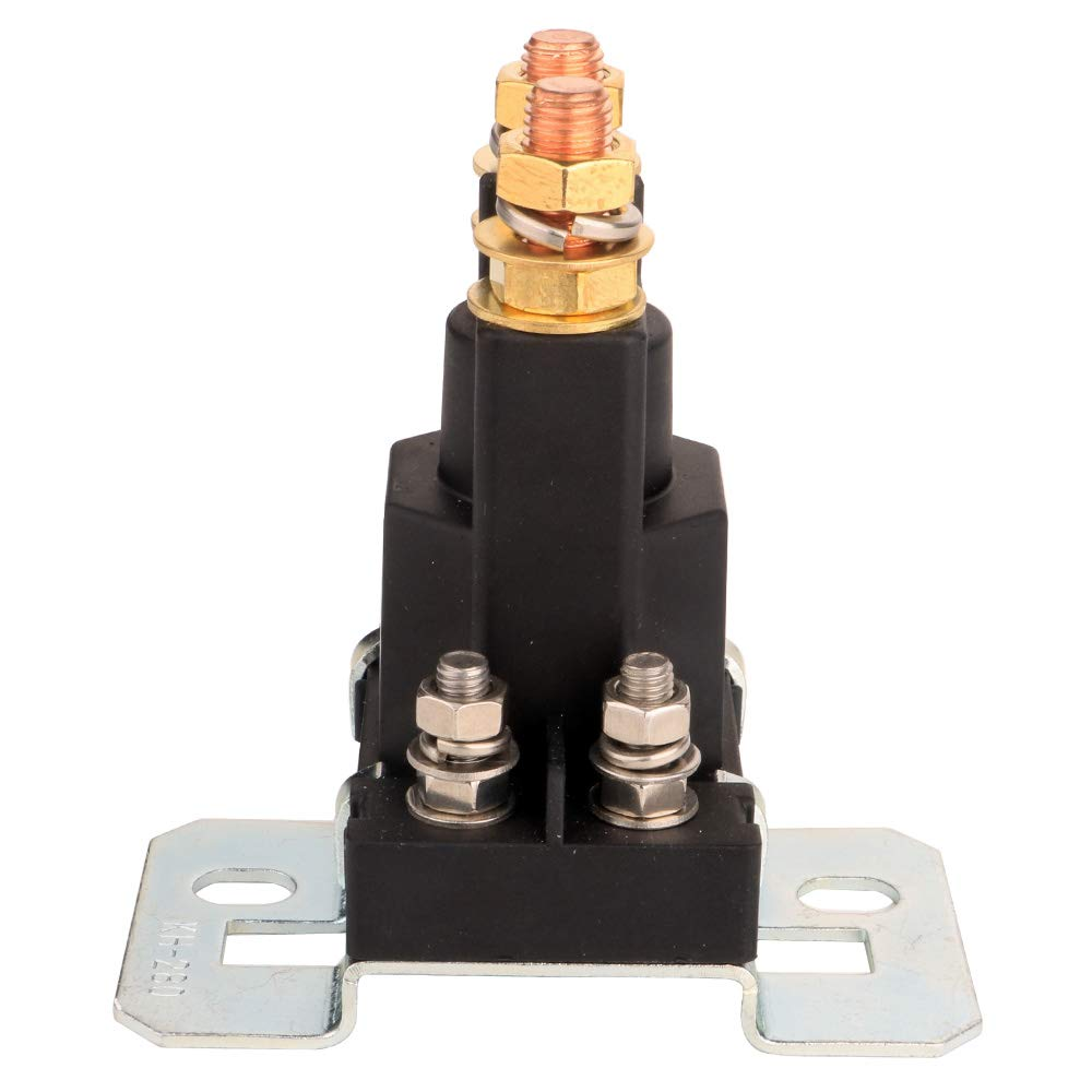 4 Pin SPST con 4 Borne de Contacto Gebildet 1 Pieza 12VDC 500A Trabajo Pesado Rel/és para Coche Barco Cami/ón Motor Automoci/ón de Arranque KH//280