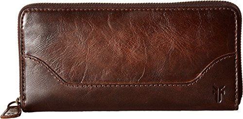 Melissa Zip Wallet, Dark Brown