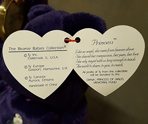 5461d2bcfe1 Amazon.com  Rare -Princess Diana Ty Beanie Baby Mint Retired  472 PE  Pellets 2nd Generation  Toys   Games
