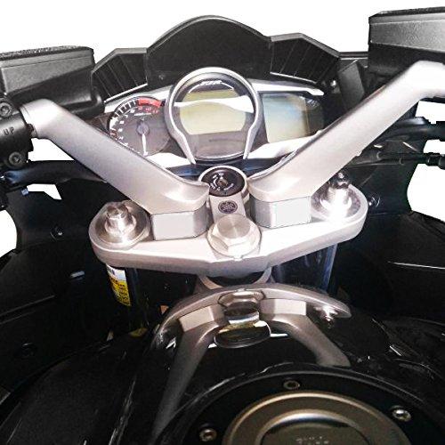 """2006-2019 Yamaha FJR1300 Billet T6 Aluminum 1/"""" Upward Back Handlebar Risers"""