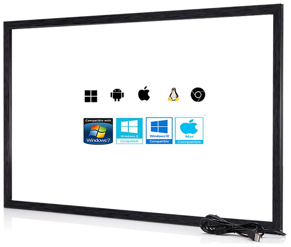 Chengying 43 Inch 10 Points Multi-Touch Infrared Touch Frame IR Touch Panel 43 Inches Infrared Touch Overlay USB Driver Free HID Compatible CYS-43-p10