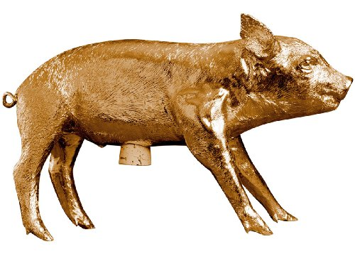 (Areaware Bank in The Form of a Pig, Gold Chrome )