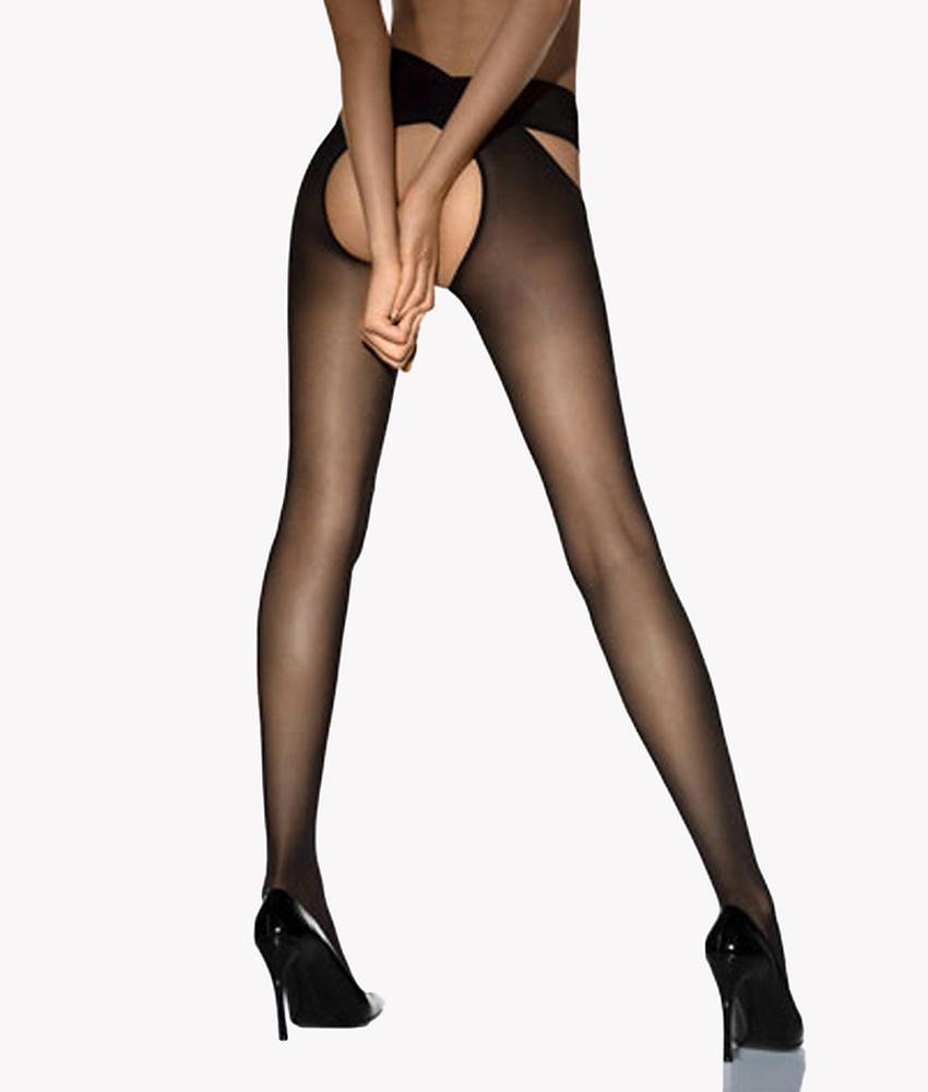 Wolford Individual 12 Denier Stay-Hip Pantyhose, Small, Black by Wolford