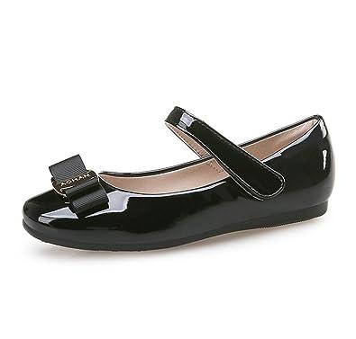 1451ca75c4ca Flyrioc Little Girl s Ballet Princess Dress Shoes Ballerina Mary Janes  Flats Black 1 M US Little
