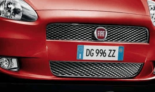 /Rejilla Superior /& Inferior Genuine Fiat Grande Punto Cromado delantera/