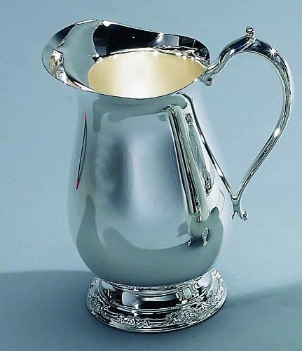 (Elegance Silver 89803 Romantica Collection Silver Plated Water Pitcher, 64 oz.)