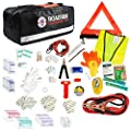 Always Prepared 149-Piece Roadside Assistance Auto Car Emergency Kit with Jumper Cables, First Aid Kit Items w/Medicine, and Critical Survival Items Included by Always Prepared