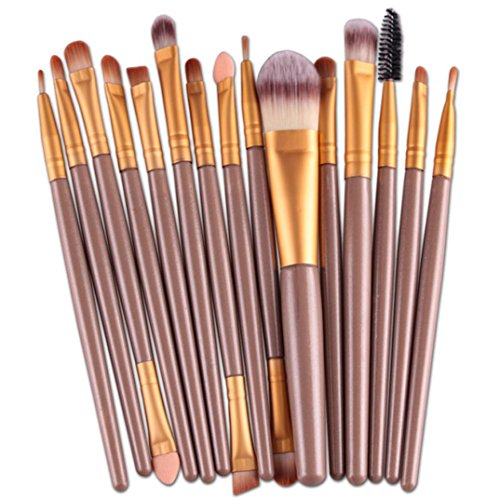 Ikevan® 15pcs Makeup Brush Set tools Make-up Toiletry Kit Wool Make Up Brush Set (Style 07)
