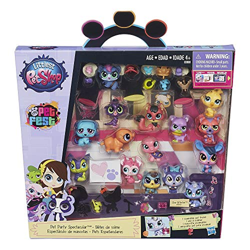 Littlest Pet Shop Pet Party Spectacular Collector Pack Toy, Includes 15 Pets, Ages 4 and Up(Amazon Exclusive) Biggest Littlest Pet Shop
