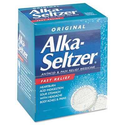 Alka-Seltzer Antacid and Pain Relief Medicine, 50 Two-Packs/Box