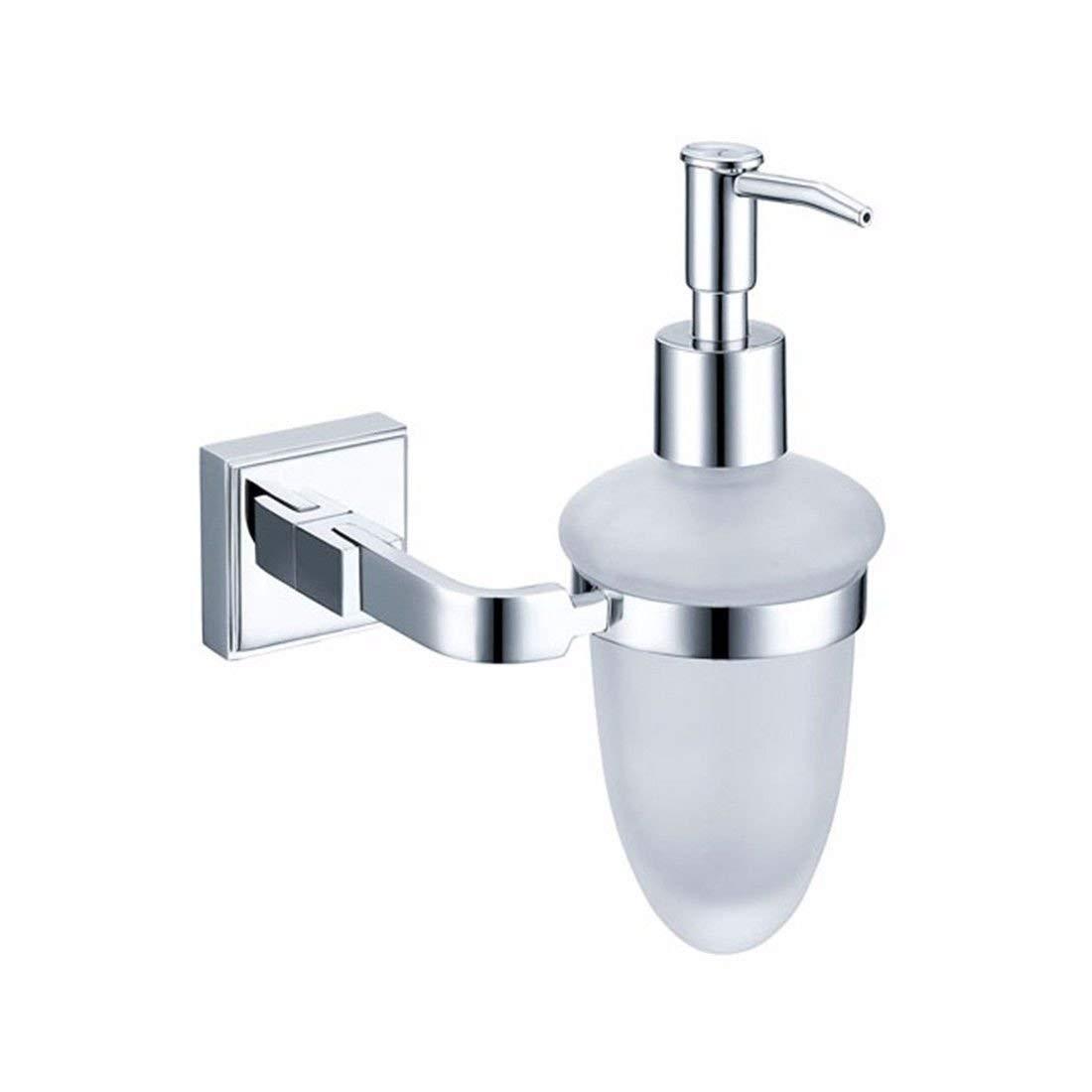 Goodscene Liquid Soap Dispenser AiRobin-Contemporary Brass Chrome Plated Square Base Lotion Dispenser Bathroom Accessory (Color : Lotion Dispenser)