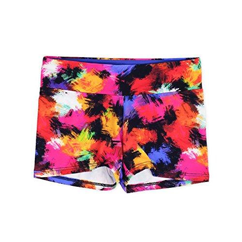 Layla Girls Dance Shorts, Gymnastics & Dancewear, 3-Pack, Graffiti, 9/10 by Lucky & Me (Image #3)