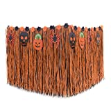 EBTOYS Table Skirt Halloween Desk Skirt Cover Artificial Grass Table Skirt for Halloween Party Decoration,Style two