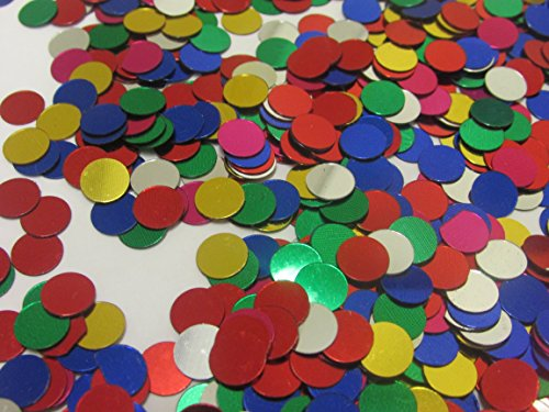 Toy Cubby Confetti Circles - 90 Gram Pack Assorted ¼ Inch Mini Decorative Party Confetti Circles for Kid's Festive Occasions | Birthdays | Weddings | Holidays]()
