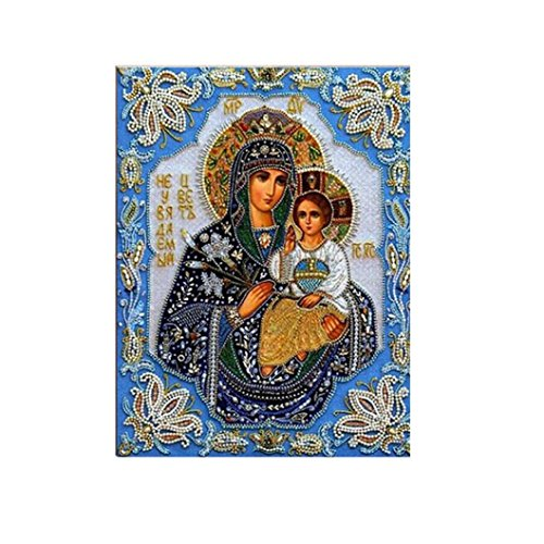 Diamond Painting Cross Stitch,Elevin(TM) 5D DIY Crystal Diamond Painting Counted Paint By Number Kits Cross Stitch Square Diamond Embroid (3040CM, E)