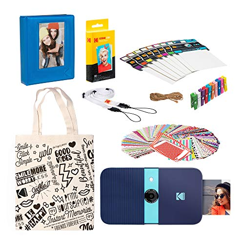 KODAK Smile Instant Print Digital Camera (Blue) Starter Kit